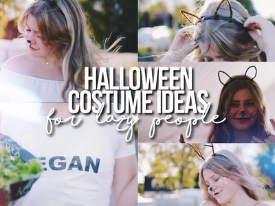 CUTE & EASY DIY HALLOWEEN COSTUMES. For Lazy People!