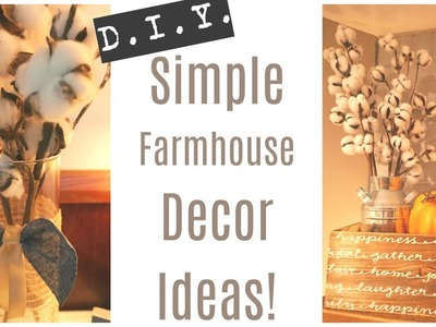 D.I.Y. Farmhouse Decor | Simple Farmhouse Touches