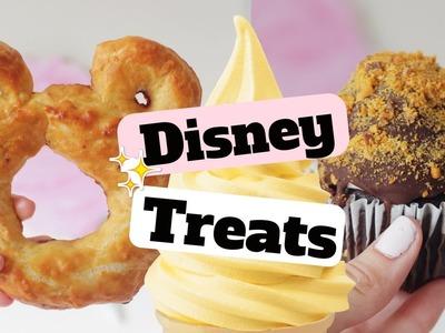 DISNEY WORLD.LAND DIY Treats♡Dole Whip, Mickey Pretzel & Butterfingers Cupcake