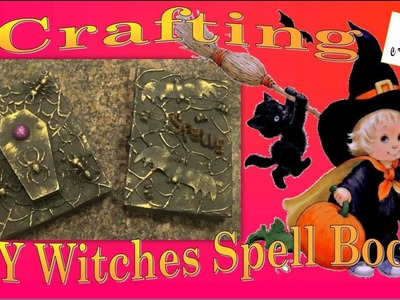 DIY | Crafting Halloween Witches Spells, Potions, Evil Book of the Dead - Creative Princess