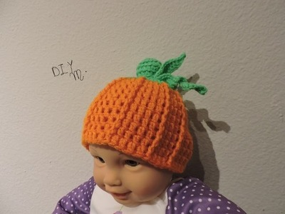 DIY Cute Pumkin Hat for Baby