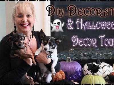 DIY Decorating.Halloween Decor Tour
