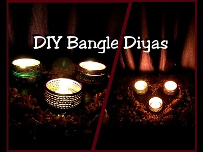 DIY Diwali Decoration | Bangle Diyas
