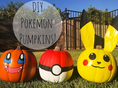 DIY | Easy Pokemon Pumpkins