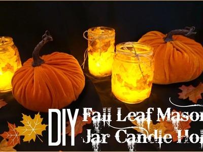 DIY | Fall Leaf Mason Jar Candle Holder