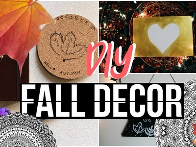 DIY Fall Room Decor | Tumblr & Pinterest Inspired!
