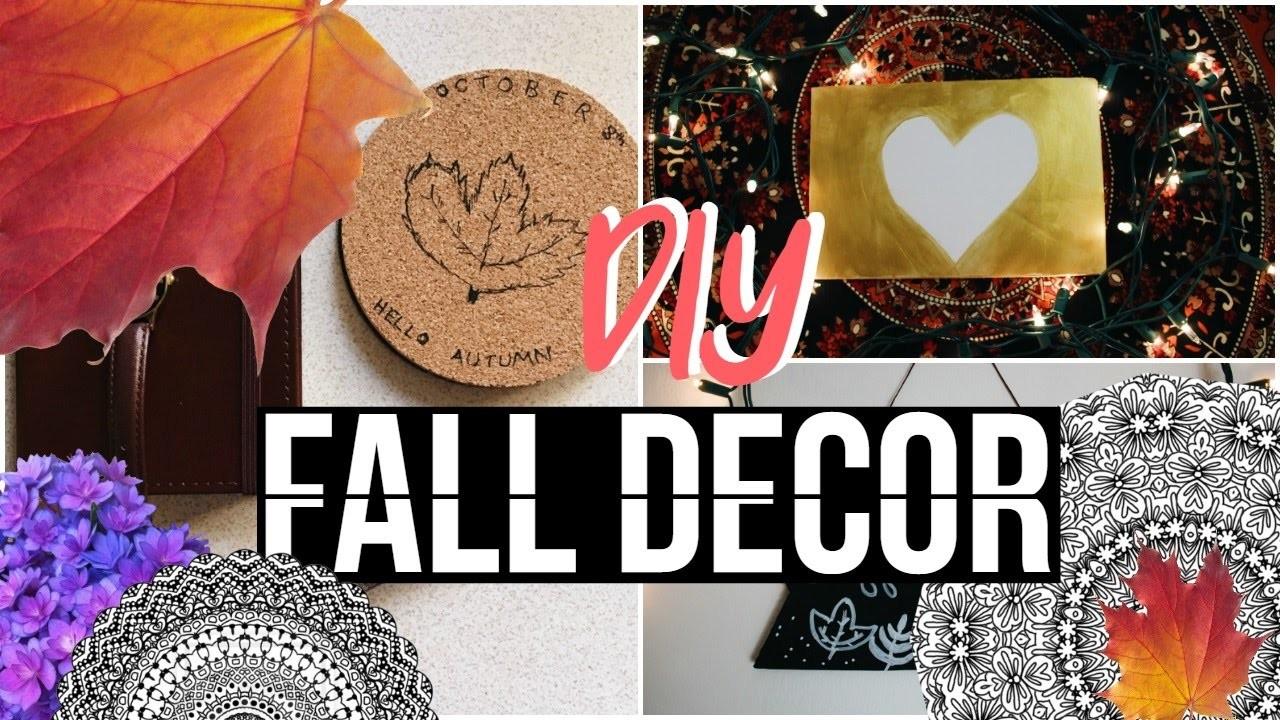 DIY Fall Room Decor | Tumblr & Pinterest Inspired!