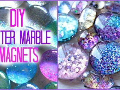 DIY Glitter Marble Magnets