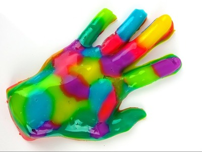 DIY Gummy Hand! Giant Jelly Jello Rainbow Hands - How To Make It
