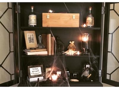 DIY Halloween Witchy Workspace