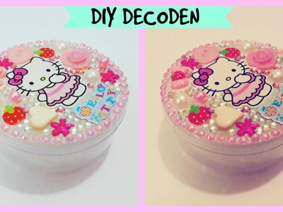 DIY Hello kitty box.How to decoden.decorate storage box.How to bling  jewellery  box