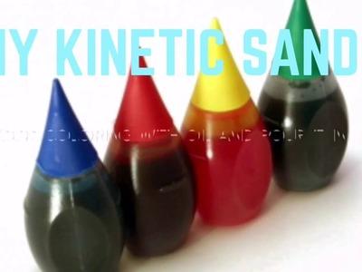 DIY KINETIC SAND!! 2 EASY INGREDIENTS!! SATISFYING VIDEO AT THE END!!