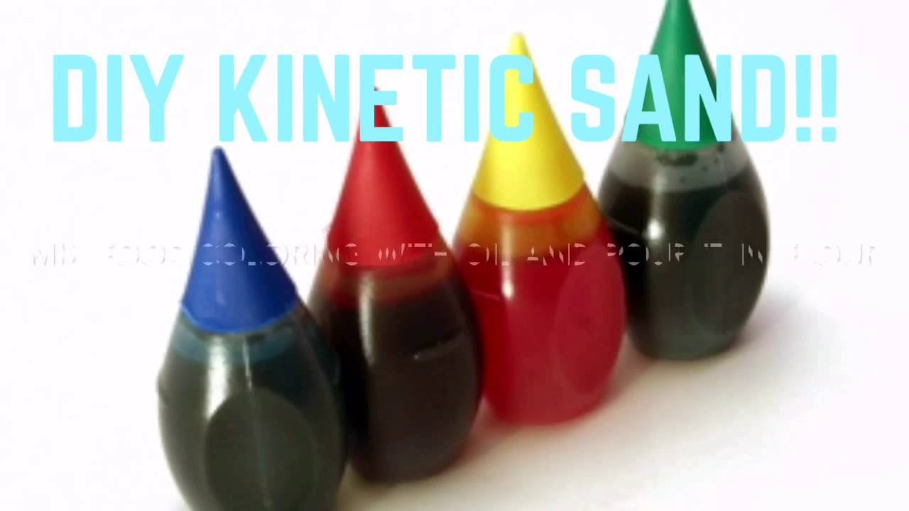 DIY KINETIC SAND!! 2 EASY INGREDIENTS!! SATISFYING VIDEO AT THE END!!