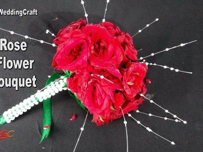 DIY  Rose  Flower Bouquet   How to make Wedding Bouquet    JK Wedding Craft 114
