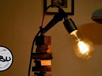 DIY | Scrap wood retro lamp