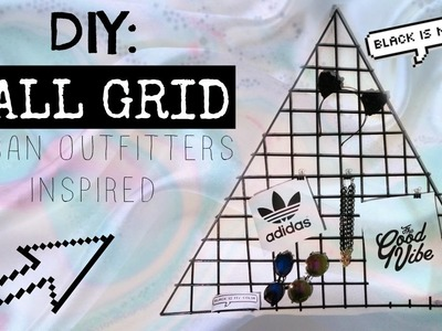 DIY: WALL GRID   URBAN OUTFITTER INSPIRED