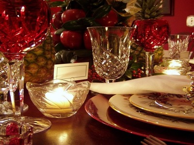 Elegant Christmas Table Top Decoration Ideas_Home and Garden