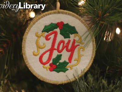 Embroidered Christmas Ornaments, In the Hoop