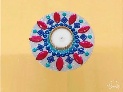Foam Candle Holder   Diwali Craft   Crafty Zilla