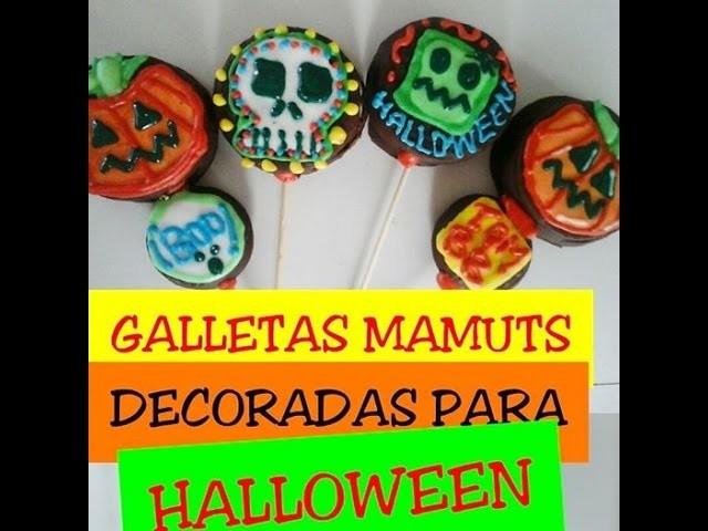 GALLETAS MAMUTS DECORADAS parte 2.Galletas decoradas para Halloween.Creactivate Manualidades.DIY