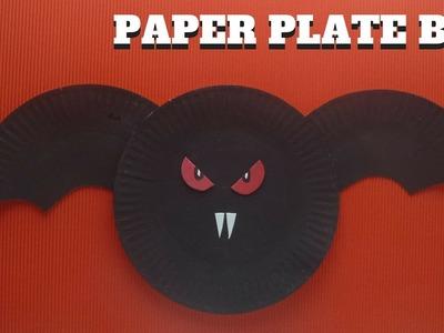 Halloween Craft - Paper Plate Bat - Paper Plate Crafts
