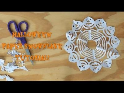 Halloween Paper Snowflake Tutorial!