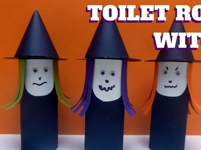 Hallween Craft - Toilet Paper Roll Witch - Toilet Paper Roll Craft