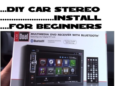 How to install car stereo for beginners DIY