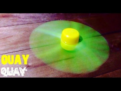 How to make a Spinning Top that spins very fast [DIY]