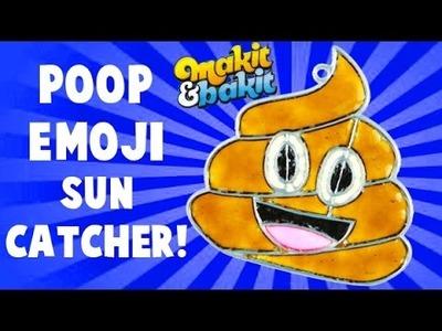 Make It and Bake It POOP Emoji Window Sun Catcher Craft Tutorial