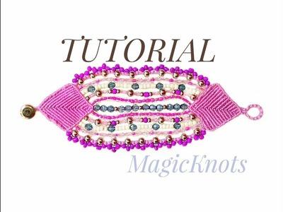 "Micro Macrame ""Purple Story"" Bracelet ♥ (DIY)"