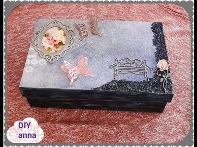 Old shoe box recycle DIY ideas decorations craft tutorial