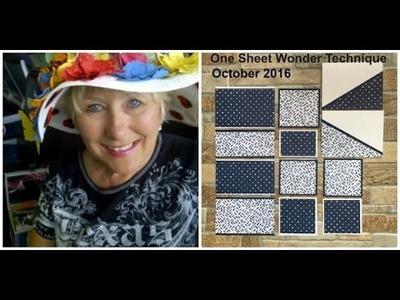 One Sheet Wonder using Floral Boutique Designer Series Paper