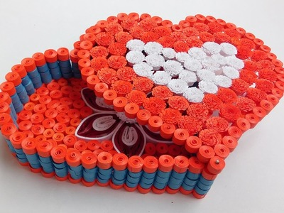 Paper quilling :  Making beautiful quilled gift box
