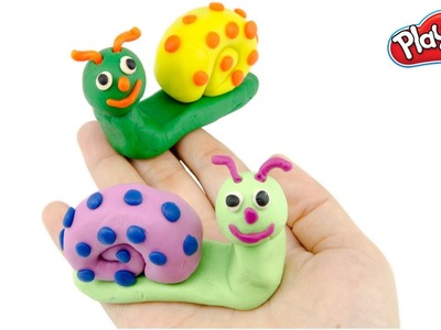 Play Doh Stop Motion DIY How To Snails With Play Dough Creative For Children