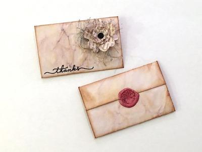 Regency-Inspired Paper Fold for Business Card