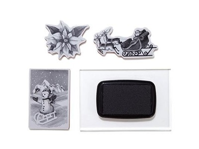 Spellbinders 3D Shading Stamp Bundle  Christmas