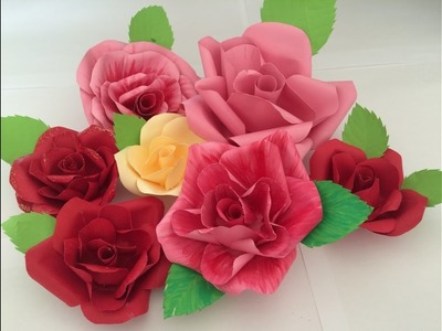 Tutorials : Easy way to make paper flower just like real roses  DIY