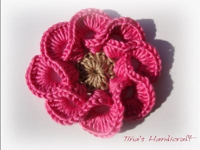 3D crochet flowers  multi petals