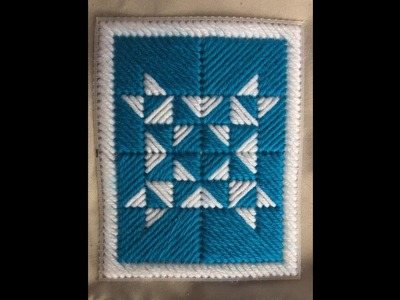 Blue Quilt Design Using Plastic Canvas Tutorial DIY How To