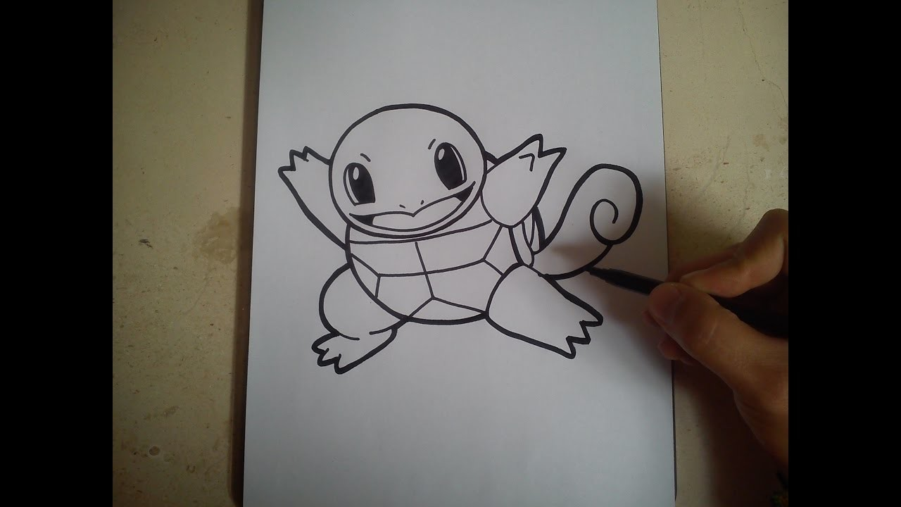 COMO DIBUJAR A SQUIRTLE - POKEMON. how to draw squirtle - pokemon go