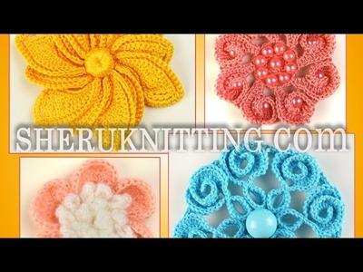Crochet 3D Flowers Collection