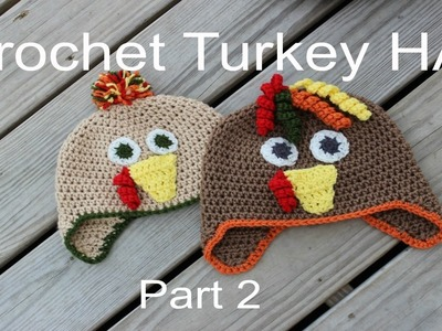 Crochet A Turkey Hat PART 2