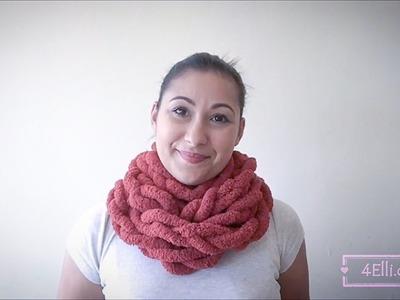 Crochet chain stitch scarf tutorial.Bufanda con punto cadena en tejido crochet