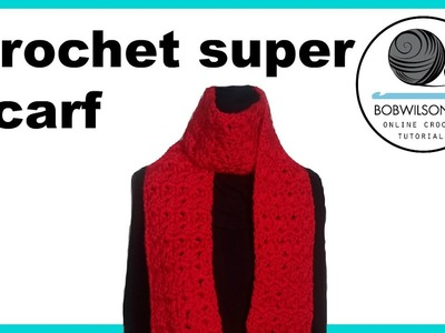 Crochet Cluster V stitch scarf.blanket tutorial
