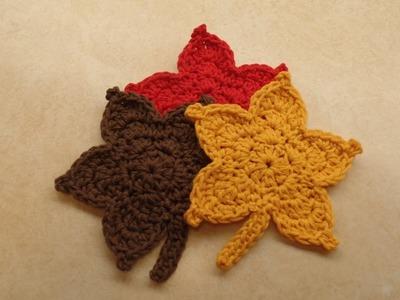 CROCHET How To #Crochet Easy Fall Autumn Leaf TUTORIAL #344