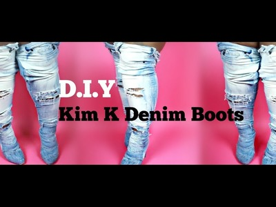 ♡ D.I.Y Kim K Over the Knee Boots !! Super Easy