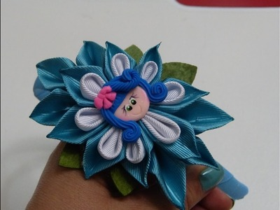 Diadema decorada con flores de liston,DIY Ribbon flower