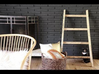 DIY Blanket Ladder Tutorial from Pallet wood; Build for Free!