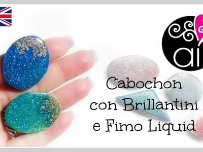 DIY Cabochons Fimo Liquid Glitters | Polymer Clay Tutorial
